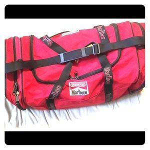 "90's Marlboro dufflel bag adventures 30"" x 12 x 12"